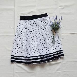 White House Black Market polka-dot skirt